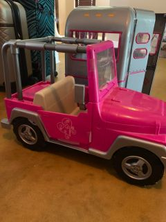 American girl doll jeep