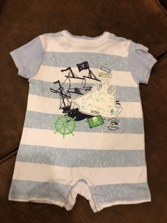 Like New Ship Pirate Adorable Stripe Playsuit. Vitamins Baby Brand. Excellent Condition. Size 3 Months