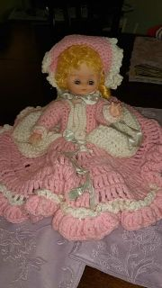 Doll with crocheted dress