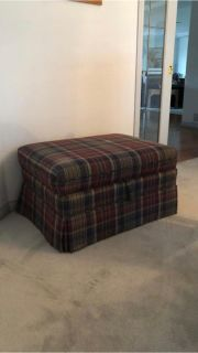 Farm style ottoman with storage