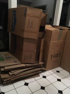 Moving boxes-all kinds