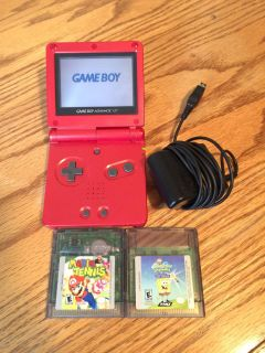 Nintendo gameboy advance sp system and games Mario