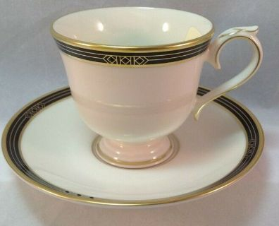 Lenox Ambassador Collection Langdon Gate Cup and Saucer NEW With TAG