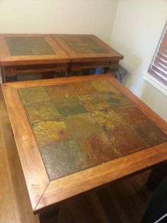 $365, Beautiful solid wood coffee table and 2 end tables