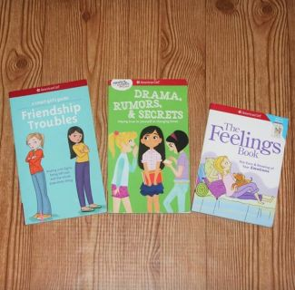 American Girl Books (Friendship Troubles, Drama Rumors and Secrets, The Feelings Book)