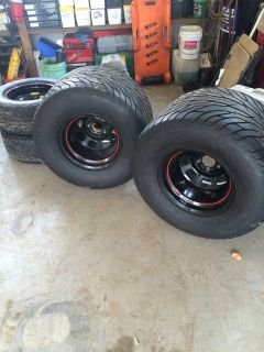 Mickey Thomson SR 31x18 on wheels with fronts