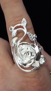 New 925 silver rose ring
