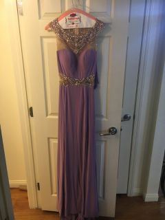Periwinkle prom dress with matching shaw