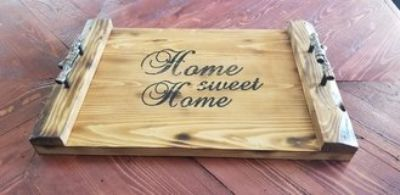 Decorative Serving Tray - Reclaimed Wood