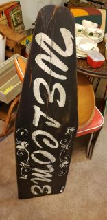 WELCOME WOOD ANTIQUE IRONING BOARD 13 BY 46