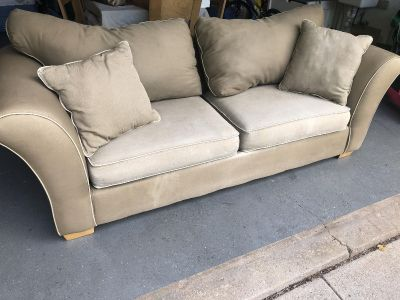 Khaki color couch *Must be picked up today*