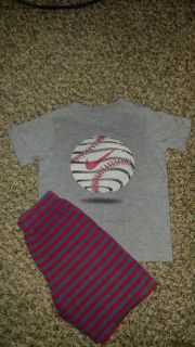 Nike tee and shorts size 4/5