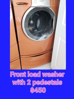 front load washer with 2 pedestals