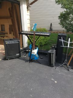 Band Equipment, guitar, key board and more