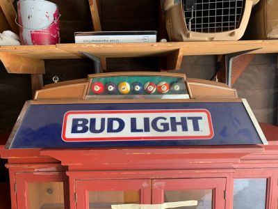 Budlight Pool Table Light