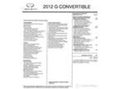 2012, Infiniti, G Convertible