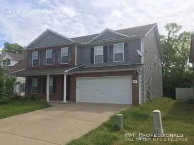 Large two-story 4 bedroom, 3 bath house with a bonus room.