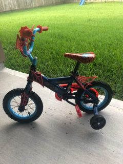 Spider-Man toddler bike with training wheels