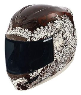 Buy Icon Airmada Colossal Helmet Antique/White/Brown motorcycle in Holland, Michigan, US, for US $265.00