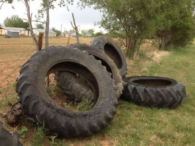 4 tractor tires 184r38  all for 75$