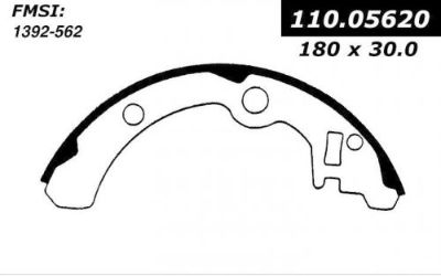 Purchase Drum Brake Shoe-Premium Brake Shoes-Preferred Centric fits 85-89 Subaru GL motorcycle in Upper Marlboro, Maryland, United States, for US $26.43