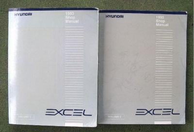 * ~ ~ 1993 Hyundai Excel ~ Shop/Service Manual ~ Two Volume Set ~ ~ *
