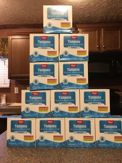 Attn Ladies!!!! Case of 12 boxes of tampons! No sense in spending tons of money on fem products!!!