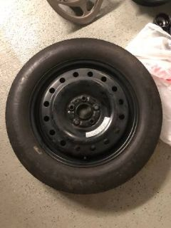 Goodyear Spare Tire and Rim T165/80D17 From 2015 Acura MDX