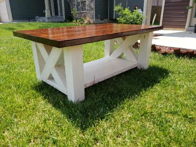 Custom-Made Farmhouse Style Coffee Table
