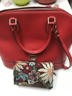 TODAY ONLY ***AUTHENTIC Dooney & Bourke Handbag With Patricia Nash Wallet***