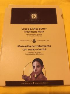 RICH RADIANCE Skin Care, Cocoa & Shea Butter treatment masks.