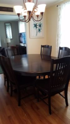 Dining Set... Table, 6 Chairs, and China Cabinet