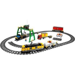 HUGE Remote Control LEGO Train Set City #7939 Huge Train Set New Box of Extra Tracks Included!