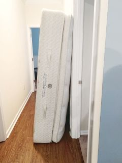 *USED* California King Mattress WITH Smart Frame