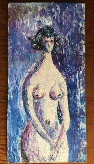 Vintage Modernist Painting - Nude Figure
