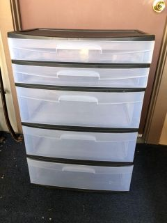 Large Sterilite 5 Drawer Storage Container