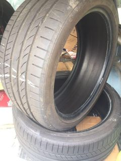 2 good condition continental low profile tires