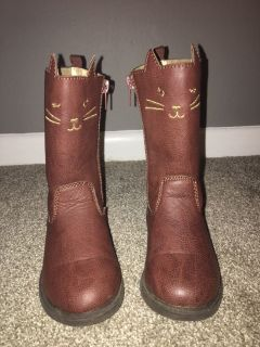 Cute cat boots size 7