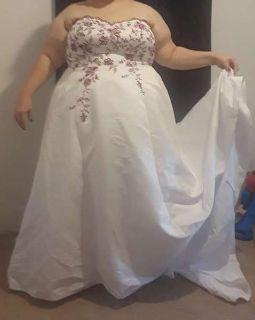 David's Bridal Wedding Dress Size US 26W Paid $1,500 asking $750 obo