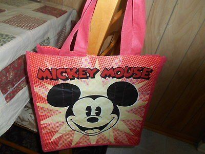 "Exclusive DisneyStore MICKEY MOUSE Lightweight Tote/ Shopping Bag! 13"" Nylon"