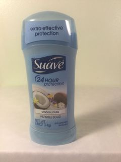 Suave coconut kisses invisible solid 24 hour protection women s deodorant