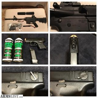 For Sale: Airsoft bundle - upgraded Tokyo Marui M4, KWA M26c, Hyperion Charger, and more