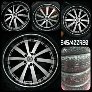 Four used 5 Lug 20inch Rims in EXCELLENT CONDITION with 3 tires!!!