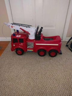 Ride on fire engine