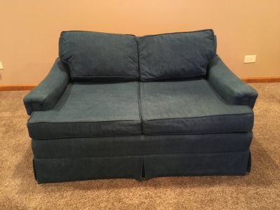 Denim Loveseat