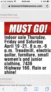 Indoor sale