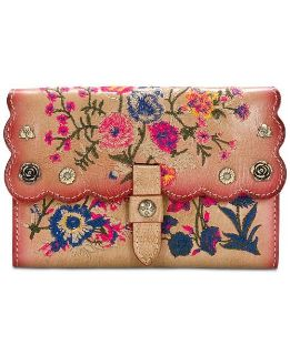 ***PATRICIA NASH***Prairie Rose Embroidered Colli Wallet