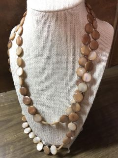 Hand beaded necklace. One long stand