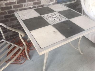 Heavy Iron Patio Table & 2 Chairs