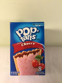 Frosted cherry pop tarts, expiration January 2020